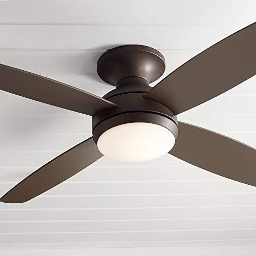 52' Casa Elite Modern Hugger Low Profile Indoor Ceiling Fan with Light LED...