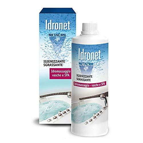 Metacril Desinfectante específico para instalaciones de HIDROMASAJE (bañeras y Piscinas Jacuzzi, Teuco.) Botella de 500 ml + Vaso dispensador. Envío Muy RÁPIDO