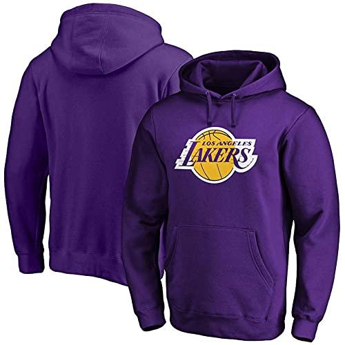 FFLL Herren Hoodie Pullover NBA Lakers Sport Training Uniform,Lila,XL