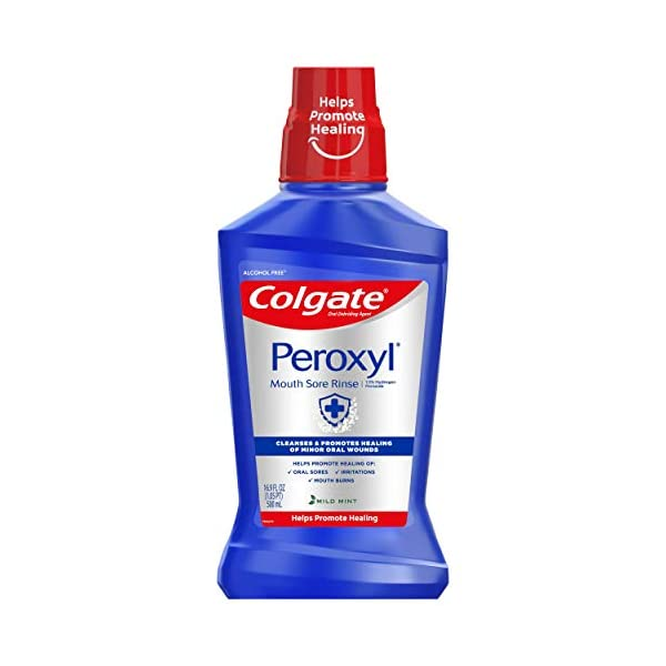 Colgate Peroxyl Antiseptic Mouth Sore Rinse