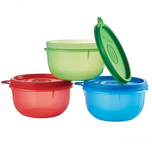 TUPPERWARE Ideal kleine Schüssel 3er Set in grün rot blau Rot, Blau, Grün
