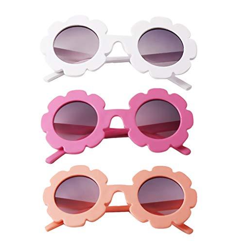 B Baosity 3 Pares de Gafas de Sol Anti-UV Kid Boy Baby Girls Sun Flower Goggle Gafas Gafas