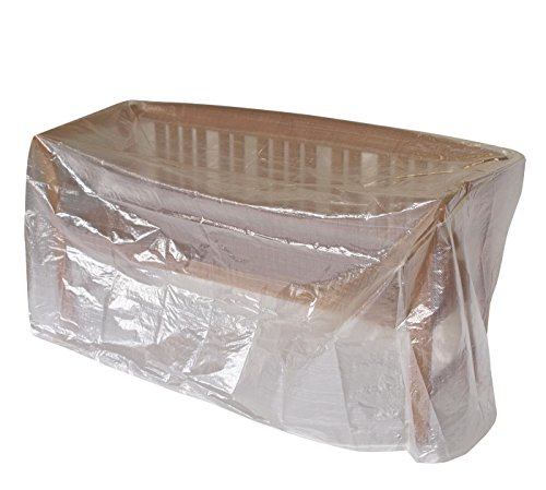 DEGAMO Schutzhülle Gartenbank oder Tisch 160cm, PE transparent