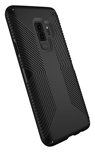 Speck Presidio Grip Samsung Galaxy S9 Plus Case, Black/Black - 109513-1050