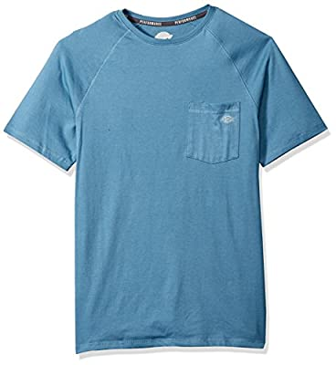 Dickies Men's Short Sleeve Performance Cooling Tee, Dusty Blue, L