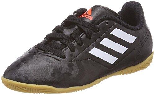 adidas Herren Fußballschuh Conquisto II IN Jungen Gymnastikschuhe, Schwarz (Core Black/FTWR White/solar Red), 38 2/3 EU