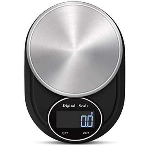 SODIAL BáScula Digital para Alimentos 5000G / 0,1G BáScula de Cocina Multifuncional de Alta PrecisióN para Alimentos para Hornear y Cocinar (BateríAs Incluidas)
