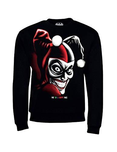 Sweat-Shirt Harley Quinn DC Comics - Put on A Happy Face