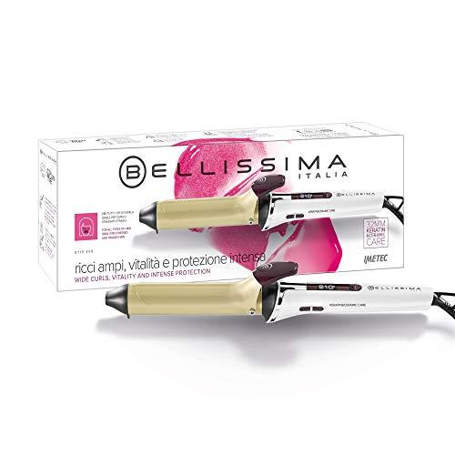 Imetec Bellissima GT15 400 - Rizador de pelo, revestimiento de cerámica y queratina, 7 niveles de temperatura de 150ºC a 210ºC, diámetro 32mm, sistema de calentamiento rápido listo para usar