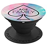 Ace Family, Cotton Candy Pink Blue - PopSockets Grip and Stand for Phones and Tablets