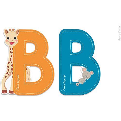 Janod Lettre série Sophie LA Girafe Bois - B J09546, Multicolore 1 - Version Espagnole