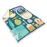 TengmiuXin - Manta de Peluche para Silla de bebé, diseño de Planta y hortalizas, Suave e incoloro, Paño de Goma, Blanco, para Galaxy S3