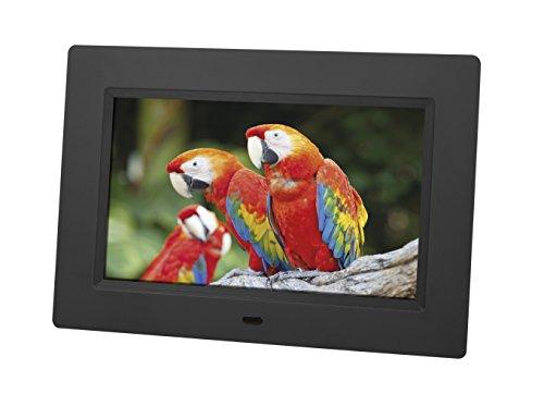 Rollei Degas DPF-70 digitaler Bilderrahmen 7 Zoll (17,8 cm) Display, SD Kartenslot und Fernbedienung - Schwarz
