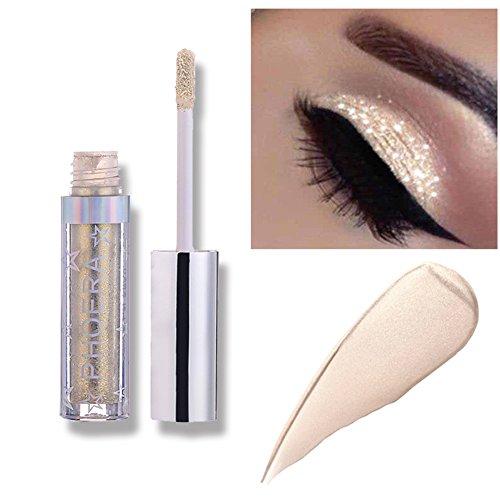 Liquid Eyeshadow Makeup Langlebige Shiny Glitter Wasserdicht Schimmer und Glanz Lidschatten-Aufkleber Metallic-Pigmente (A101)