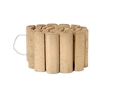 Catral 31010006 - Bordura flexible de madera tratada 40x250 cm. diam.7 cm.