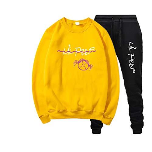 EMPERSTAR Chándal para niños Lil Peep Merchandise Unisex Hip Pop Sudadera para Hombres Mujeres Teen Lil Peep Merchandise L