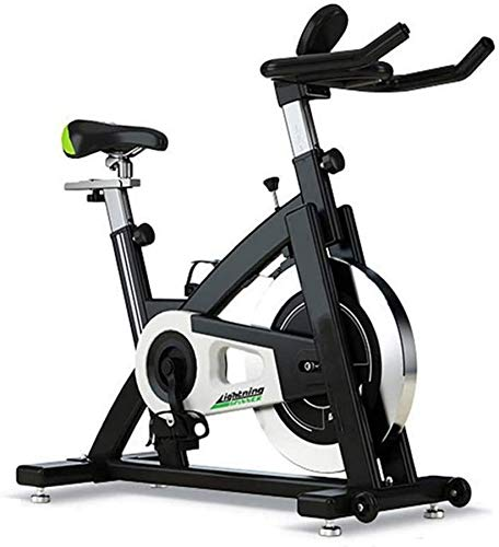 Wghz Bicicleta de Ciclismo Interior con transmisión por Correa Bicicleta estática - Bicicletas de Ejercicio Reposabrazos de múltiples Posiciones - para Entrenamiento Cardiovascular en casa