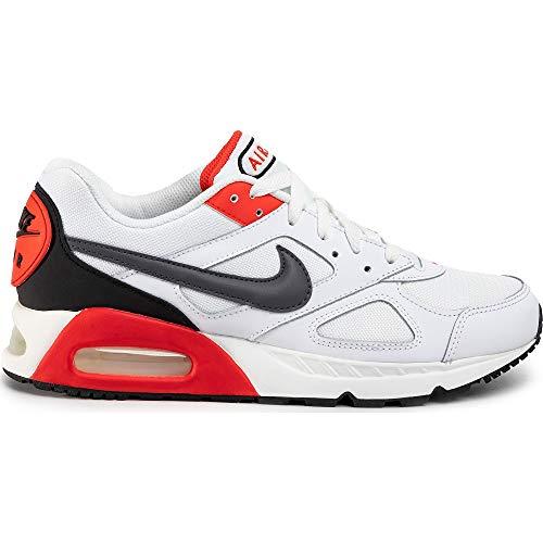Nike Air Max Ivo Herren Running Trainers CD1540 Sneakers Schuhe (UK 11 US 12 EU 46, White Dark Grey Habanero red 100)