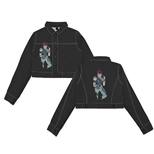 FJLOVE Chaqueta de Mezclilla Abrigo con Botones de Manga Larga Outwear Hunter x Hunter Anime Cosplay Sudadera Abrigo para Mujer,XXXL
