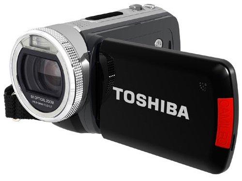 Toshiba Camileo H20 HD-Camcorder (5 Megapixel, 5-Fach Opt. Zoom, 7,6 cm (3 Zoll) Display, Bildstabilisator) schwarz