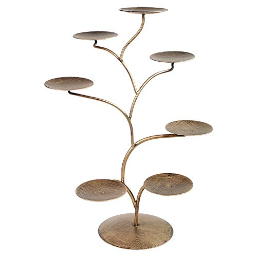 Display für 7 Chakra Lotus-Kerzenhalter metal - 57x35 cm
