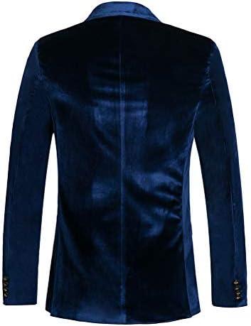 Royal blue velvet blazer mens _image1