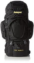 AspenSport Unisex Backpack Long March, black / orange, 80 x 45 x 32 cm, 70 liters, AB05Y04