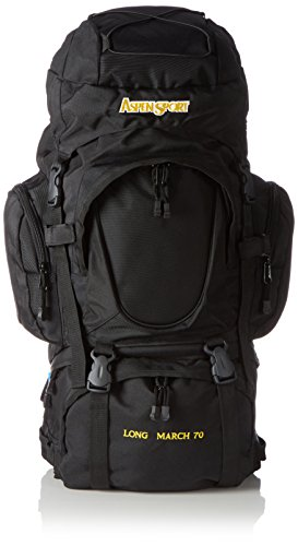AspenSport Unisex Rucksack Long March, schwarz, 80 x 45 x 32 cm, 70 liters, AB15Y04