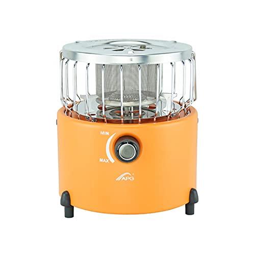 YINZHI APG Portátil 2 en 1 Estufa de Camping Calentador de Gas Calentador al Aire Libre Propano Butane Tienda de campaña Calentador Sistema de Cocina (Color : New Orange)
