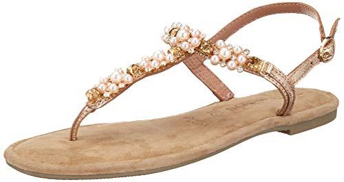 Tamaris 1-1-28152-22, Sandali con Cinturino alla Caviglia Donna, Multicolore (Rose Metallic 952), 37 EU