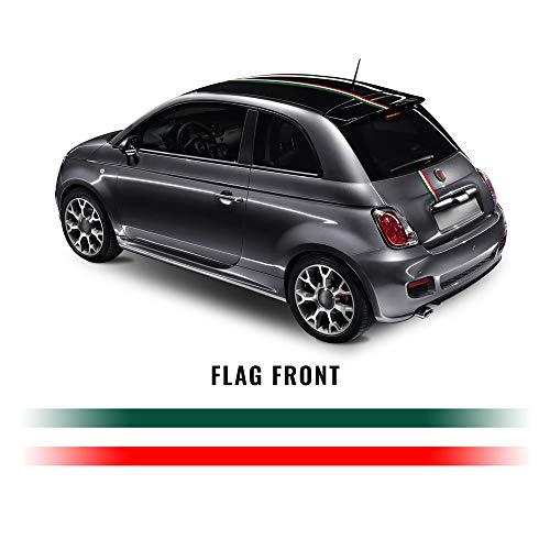 Quattroerre Stripes tape voor Fiancate Fiat 500 Tricolor Italia