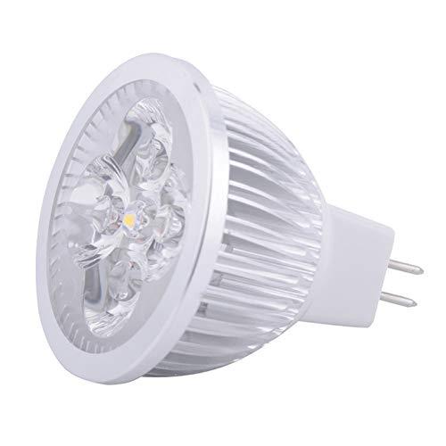HEQIE-YONGP Bulbo Llevado LED MR16 Spotlight - 4 vatios - 400-440 lúmenes - 40W Igual - 3000/6000 Kelvin - 45 Deg. Inundación Estrecha - AC/DC 24V - Base GU5.3 (Color : Warm White, UnitCount :