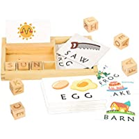 Youwo See and Spell Learning Puzzle Preschool Spelling Game Toys