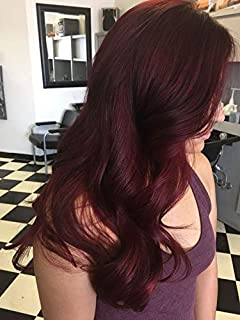 Hetto Keratin Hair I Tips Stick Hair #99J Red Wine I Tip Pre Bonded Human Hair 16 Inch Micro Rings Beads I Tipped 40g Per Pack 0.8g/Strand Cold Fusion Hair
