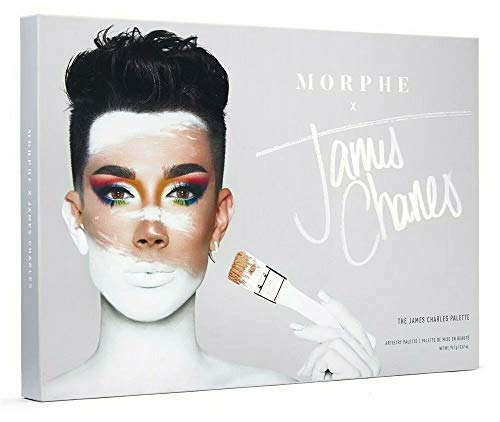 Morphe x James Charles Artistry Palette - 39 Eyeshadows and Pressed Pigments - Crazy Colorful, Deeply Pigmented Shades - Matte, Metallic, and Shimmer shades