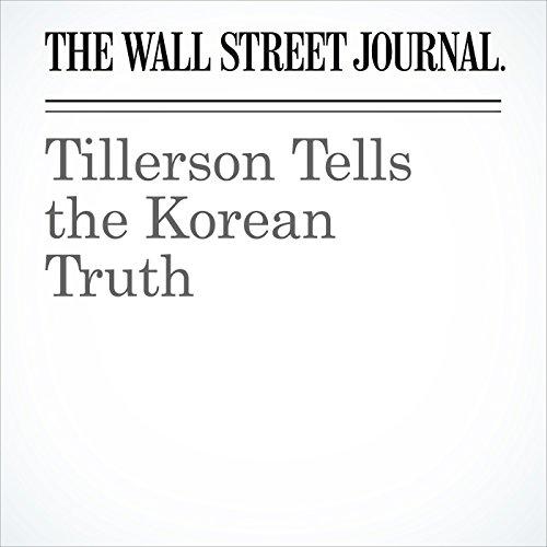 Tillerson Tells the Korean Truth copertina