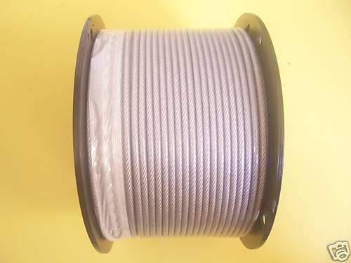 Find Bargain Vinyl Coated Wire Rope Cable 3/32-3/16, 7x7 (300 ft Reel)