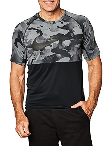 NIKE Camiseta de los Hombres Top Slim Camo Camiseta de los Hombres, Hombre, Camiseta para Hombre, CU4093, Negro, L