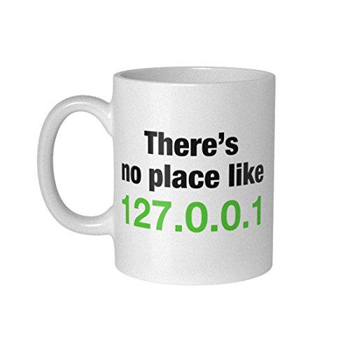 getDigital 127.0.0.1 Becher Tasse für Nerds und Geeks, Keramik, weiß, 10 x 10 x 10 cm