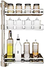 Home Living Museum/Home Kitchen Rack Corner Rotation Spice Rack Free Punching Wall Mounted Multi Function Storage Shelf Sp...