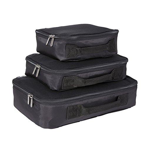 Genius Pack Compression Home Organizers - Set of 3 (Black)