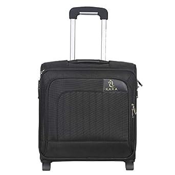 Kara LG 7192 Nylon 15 inch Black Softsided Suitcase