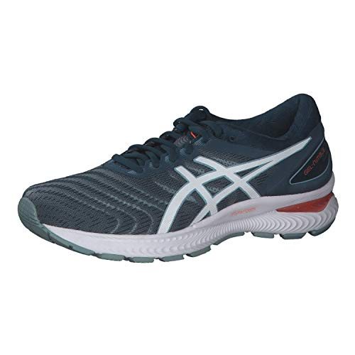 ASICS Mens Gel-Nimbus 22 Running Shoe, Light Steel/Magnetic Blue,40.5 EU