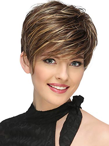 BeiSD Mix Brown Blonde Wig Synthetic Wigs For Black/White Women Natural Wave Wigs African American Short Wigs for Women (7266)