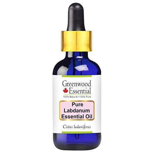 Huile essentielle pure de labdan de Greenwood Essential (Cistus ladaniferus) avec compte-gouttes en verre 100% normale de catégorie thérapeutique distillée par vapeur 100ml Pack of Two (6,76 oz)