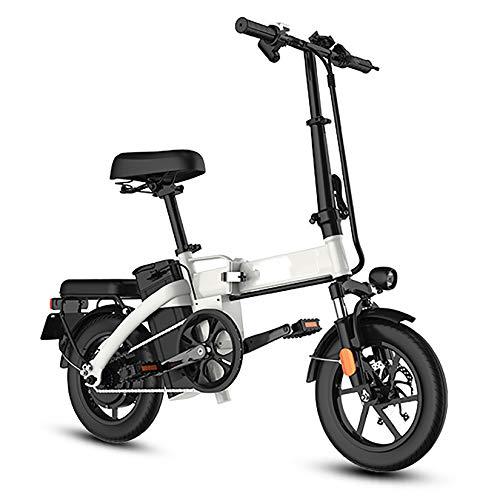 XXZ Bicicleta eléctrica Plegable Bicicletas eléctricas Kilometraje 45 km Batería de Iones...