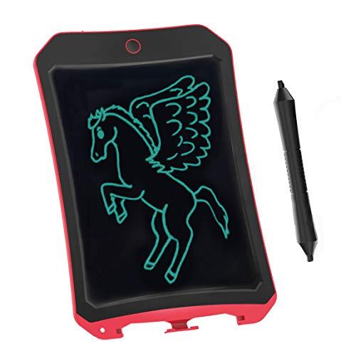 BIBOYELF 8.5 Inch Bordoschermo Elettronico Doodle Board,Tavolo da Disegno Per Bambini-Best Regali Per Bambini&Adulti (Rosso D)