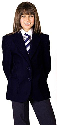 CKL Blazer für Mädchen, Schuluniform, 100 % Polyester, Teflon-Beschichtung, wasserabweisend Gr. 5-6 Jahre, navy