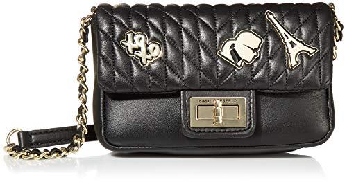 Karl Lagerfeld Paris Damen AGYNESS NOVELTY LAMB SM CROSSBODY Umhängetasche, goldfarben/schwarz, Einheitsgröße