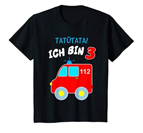 Kinder Geburtstags T-Shirt Ich bin 3 Rettungswagen Ambulanz Notarzt